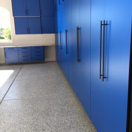 Blue Garage Cabinets Washington DC