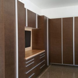 Garage Cabinets With Extruded Handles in Washington DC