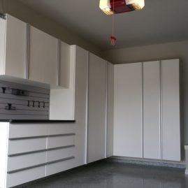 Washington DC White Garage Cabinets